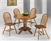 Farmhouse 5 Piece Dining Set in Oak Finish by Crown Mark - 1056D