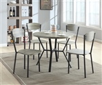 Blake 5 Piece Dining Set in Grey Finish by Crown Mark - 1230