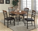 James 5 Piece Natural Wood and Black Finish Dining Set by Crown Mark - 1245