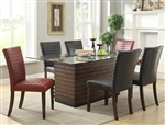 Micah 5 Piece Dining Set in Espresso Finish by Crown Mark - 1250