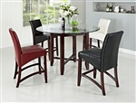 Alexa 5 Piece Counter Height Dining Set in Espresso Finish by Crown Mark - 1712