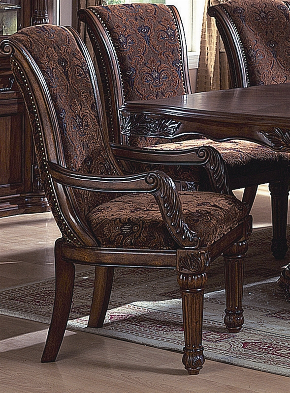 Estelle 7 Piece Dining Set In Cherry Finish By Crown Mark