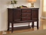 Merlot Sideboard in Brown Cherry Finish by Crown Mark - 2145-SB