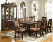 Merlot Complete Dining Set China Included in Brown Cherry Finish by Crown Mark - 2145C