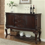 Kiera Sideboard in Rich Dark Brown Finish by Crown Mark - 2150-SB
