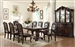 Kiera Complete Dining Set China Included in Rich Dark Brown Finish by Crown Mark - 2150C