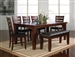 Bardstown 5 Piece Dining Set in Walnut Finish by Crown Mark - 2152-5