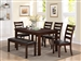 Quinn 6 Piece Dining Set in Brown Finish by Crown Mark - 2164-6
