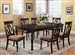 Diana 5 Piece Dining Set in Cappuccino Finish by Crown Mark - 2165
