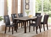 Dominic 5 Piece Dining Set in Espresso Finish by Crown Mark - 2167