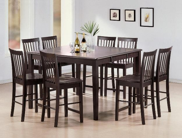 Shaker 5 Piece Counter Height Dining Set In Espresso