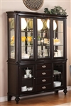 Foley Buffet and Hutch in Espresso Finish by Crown Mark - 2227H