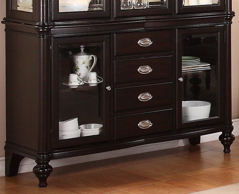 Foley Buffet And Hutch In Espresso Finish By Crown Mark