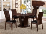Daria 5 Piece Dining Set in Espresso Finish by Crown Mark - 2234ESP