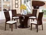 Daria 5 Piece Dining Set in Espresso Finish by Crown Mark - 2234WH