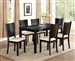 Hanson Crocodile Print 5 Piece Dining Set in Black Finish by Crown Mark - 2252