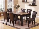 Bruce 5 Piece Dining Set in Espresso Finish by Crown Mark - 2267