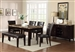 Bruce 6 Piece Dining Set in Espresso Finish by Crown Mark - 2267T