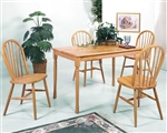 Farmhouse 5 Piece Dining Set in Oak Finish by Crown Mark - 2302
