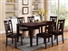 Paige 7 Piece Dining Set in Espresso Finish by Crown Mark - 2325