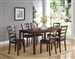 Tahoe 7 Piece Dining Set in Brown Finish by Crown Mark - 2330