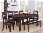 Maldives 5 Piece Dining Set in Warm Brown Finish by Crown Mark - 2360-5