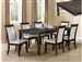 Ariana 5 Piece Dining Set in Grey Finish by Crown Mark - 2368