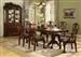 Brussels 7 Piece Dining Set in Cherry Finish by Crown Mark - 2470
