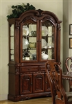Brussels Buffet and Hutch in Cherry Finish by Crown Mark - 2470H