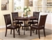 Brook 5 Piece Dining Set in Espresso Finish by Crown Mark - 2519