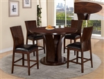 Daria 5 Piece Counter Height Dining Set in Espresso Finish by Crown Mark - 2734ESP