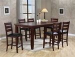 Bardstown 5 Piece Counter Height Dining Set in Walnut Finish by Crown Mark - 2752-5