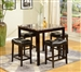 Kinsey 5 Piece Counter Height Faux Marble Top Dining Set in Espresso Finish by Crown Mark - 2773