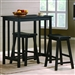 Dina 3 Piece Counter Height Dining Set in Black Finish by Crown Mark - 2779
