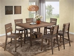 Bradon 5 Piece Counter Height Dining Set in Rustic Brown Finish by Crown Mark - 2781