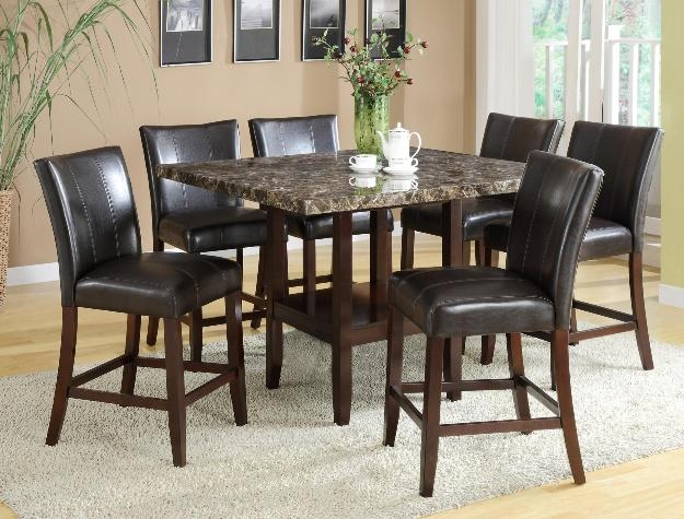 Ferrara 7 Piece Counter Height Dining Set In Espresso Finish By Crown Mark    2821