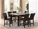 Dominic 5 Piece Counter Height Dining Set in Espresso Finish by Crown Mark - 2867