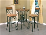 Alyssa 3 Piece Bar Table Set by Crown Mark - 2980