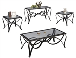 Monarch 3 Piece Occasional Table Set by Crown Mark - CM-3123