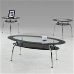 Mila 3 Piece Occasional Table Set in Silver Finish by Crown Mark - CM-3270