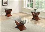 Gemma 3 Piece Occasional Table Set in Brown Finish by Crown Mark - CM-4131
