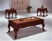 Explorer 3 Piece Occasional Table Set in Cherry Finish by Crown Mark - 4205