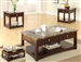 Reggio 3 Piece Occasional Table Set in Cappuccino Finish by Crown Mark - 4225