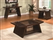 Midori 3 Piece Occasional Table Set in Warm Brown Finish by Crown Mark - 4228