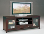 "Norris 72"" TV Console in Brown Finish by Crown Mark - 4810"