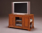 "Harris 48"" TV Console with Storage in Oak Finish by Crown Mark - 4813-OAK"