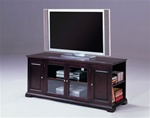 "Harris 62"" TV Console with Storage in Espresso Finish by Crown Mark - 4814-ESP"