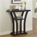 Draper Console Table in Black Finish by Crown Mark - CM-4906