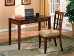 Hawthorne Home Office Desk & Chair in Brown Cherry Finish by Crown Mark - 5148