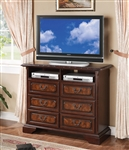 Neo Renaissance Media Chest in Cherry Finish by Crown Mark - B1470-7